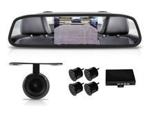 Огледало + камера за паркиране + парктроник за кола АТ 112M
