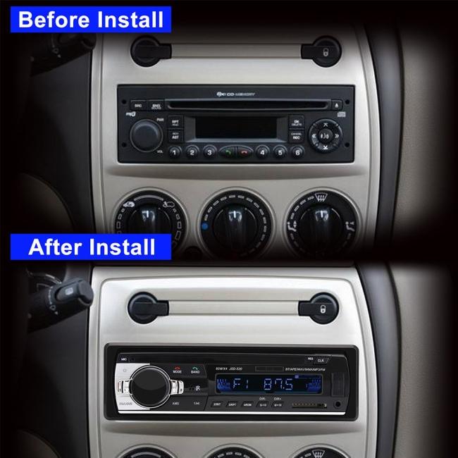 MP3 аудио плеър за кола с Блутут и дистанционно АТ 520 - MP3, SD, USB