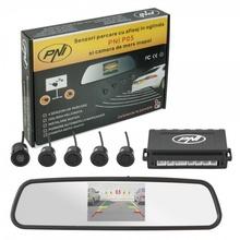 Парктроник с огледало с дисплей + 4 черни датчика и камера PNI P05