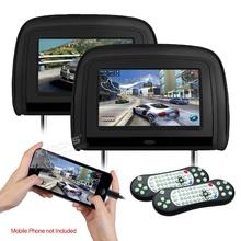 Подглавници за кола 2бр.HD909V, DVD, SD, USB 9 инча