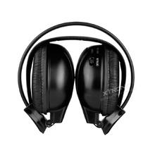Безжични черни слушалки DWHOO2S с IR  Wierless предавател за подглавник