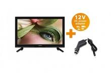 Портативен телевизор Crown с цифров тунер LED LCD 23 инчa 12-220V