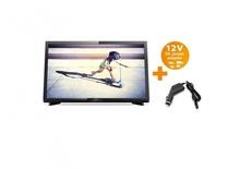Philips портативен телевизор с цифров тунер 22 инчa 12-220V